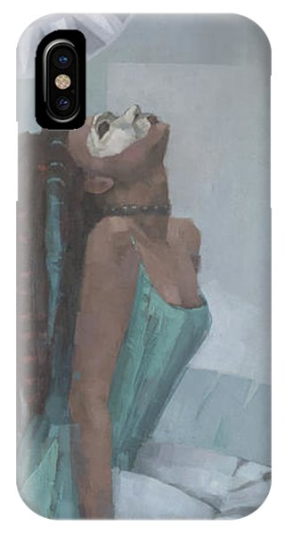 IPhone Case featuring the painting Nephthys by Steve Mitchell