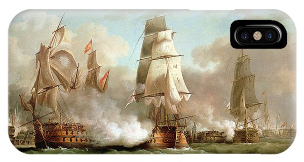 Neptune Engaged At The Battle Of Trafalgar IPhone Case