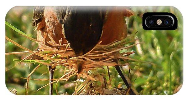 Nest Building IPhone Case