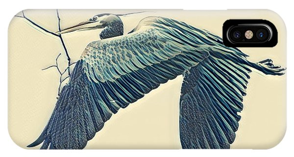 Nesting Heron IPhone Case