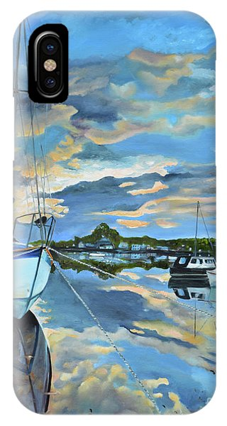 Nestled In For The Night At Mylor Bridge - Cornwall Uk - Sailboat  IPhone Case