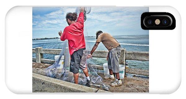 Net Fishing On Cortez Bridge  IPhone Case
