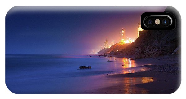 Netanya Beach At Night IPhone Case