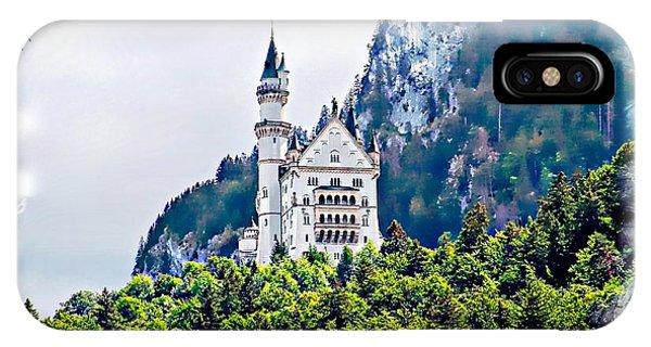 Neuschwanstein Castle With A Glider IPhone Case