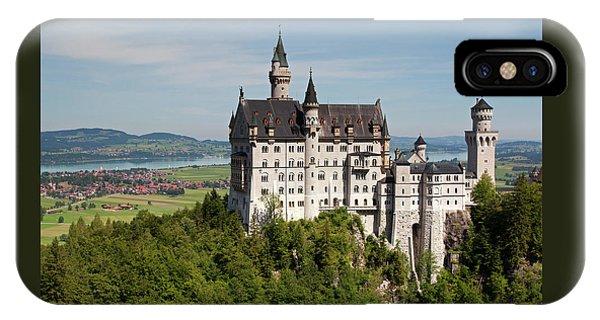 Neuschwanstein Castle With Village IPhone Case
