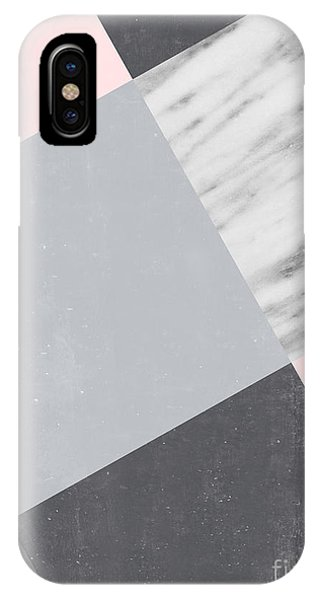 Neutral Collage With Marble IPhone Case