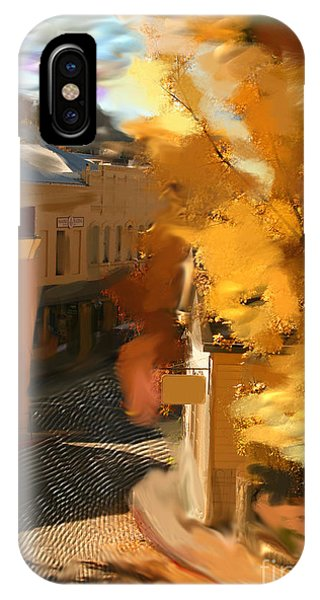 Nevada City In Fall IPhone Case