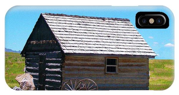Nevada Log Cabin IPhone Case