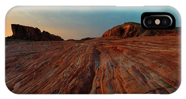 Valley Of Fire iPhone Case - Nevada Sandstone Sunset by Mike Dawson