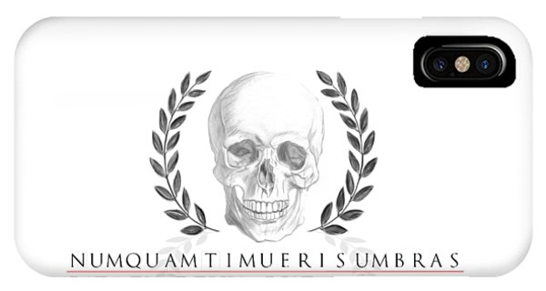 Never Fear The Shadows Stoic Skull With Laurels IPhone Case