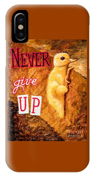 Never Give Up. IPhone Case