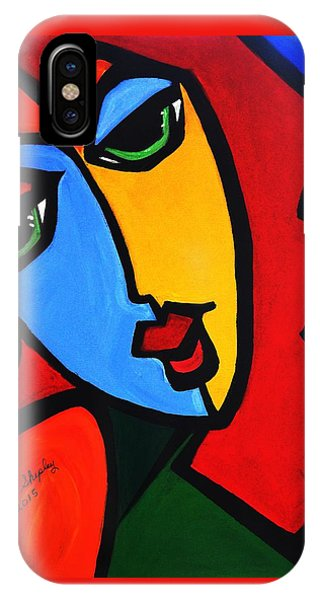 New  Abstract   Miss Tulip IPhone Case