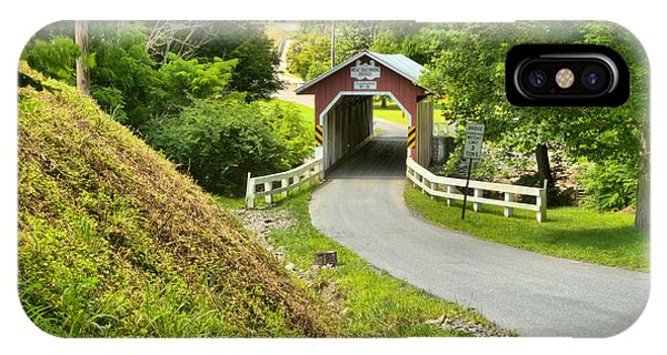 Somerset County iPhone Case - New Baltimore Covered Bridge Through The Forest by Adam Jewell