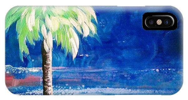 New Blue Horizons Palm Tree IPhone Case