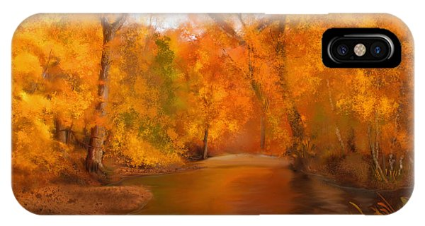 New England Autumn In The Woods IPhone Case