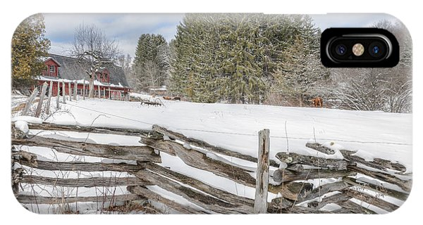 New England Farm Winter 2016 IPhone Case
