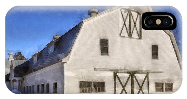 New England Barn iPhone Case - New England Horse Barn South Woodstock Vermont by Edward Fielding