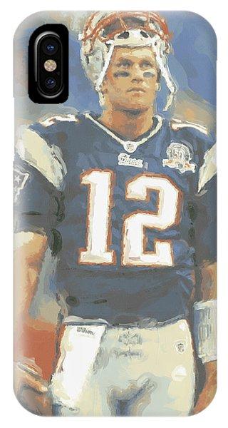 Iphone 4 iPhone Case - New England Patriots Tom Brady by Joe Hamilton