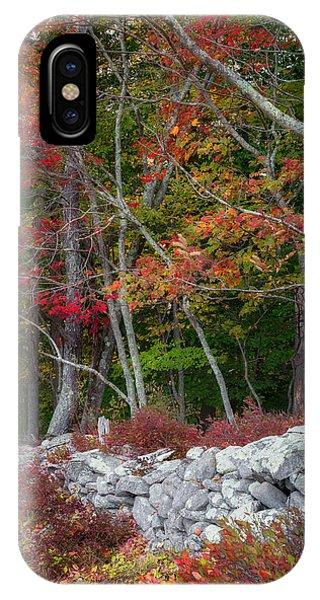 Roxbury iPhone Case - New England Stonewall by Bill Wakeley