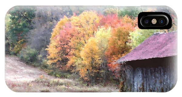 New England Tobacco Barn In Watercolor IPhone Case