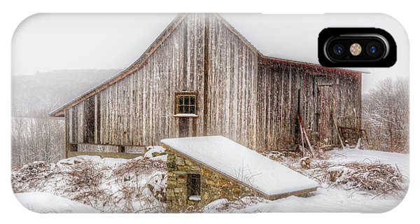 New England Barn iPhone Case - New England Winter Rustic by Bill Wakeley