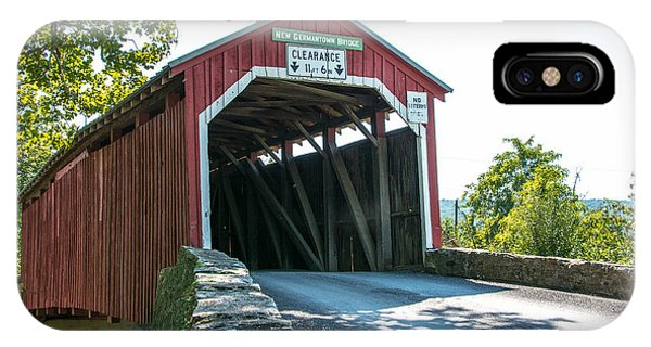 New Germantown Covered Bridge IPhone Case