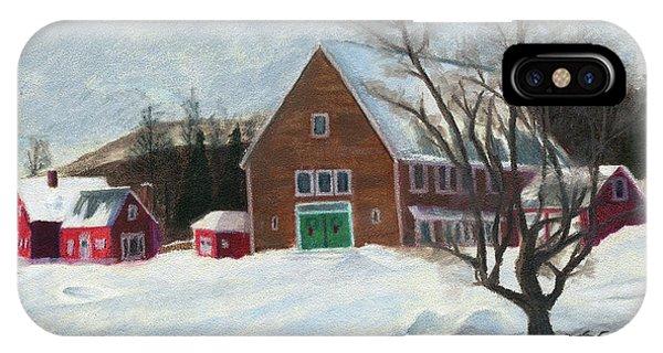 New Hampshire Farm In Winter IPhone Case
