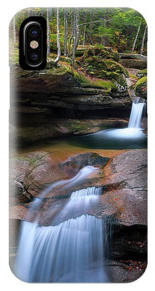 New Hampshire Sabbaday Falls Panorama IPhone Case