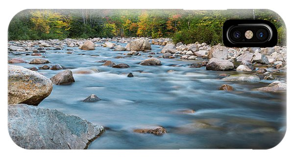 New Hampshire Swift River And Fall Foliage In Autumn IPhone Case
