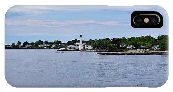 New London Harbor Lighthouse IPhone Case