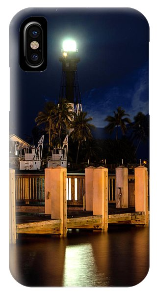 New Moon At Hillsboro Inlet Lighthouse IPhone Case