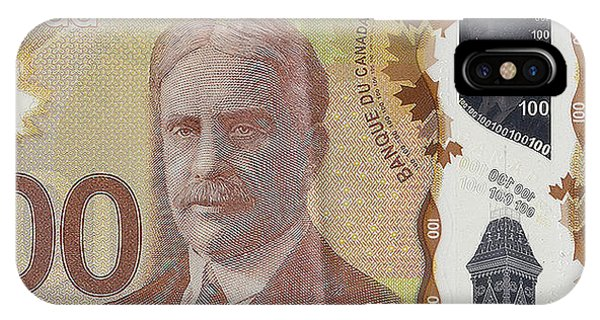 New One Hundred Canadian Dollar Bill IPhone Case
