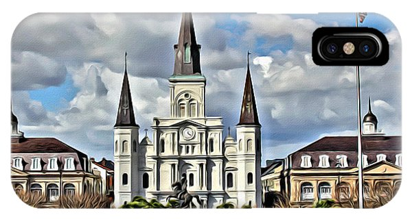 iPhone Case - New Orleans Church by Carey Chen