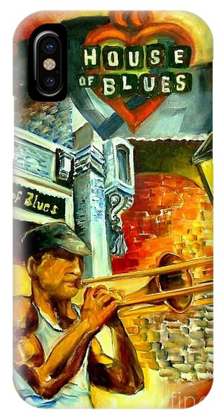 Trombone iPhone Case - New Orleans' House Of Blues by Diane Millsap