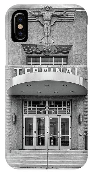 Steve Harrington iPhone Case - New Orleans Lakefront Airport Bw by Steve Harrington