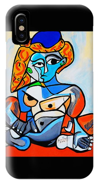 New  Picasso By Nora  Nude Woman With Turkish Bonnet IPhone Case