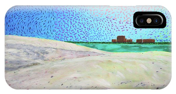 IPhone Case featuring the painting New Smyrna Beach As Seen From A Dune On Ponce Inlet by Deborah Boyd