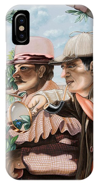 New Story By Sir Arthur Conan Doyle About Sherlock Holmes IPhone Case
