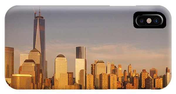 New World Trade Memorial Center And New York City Skyline Panorama IPhone Case