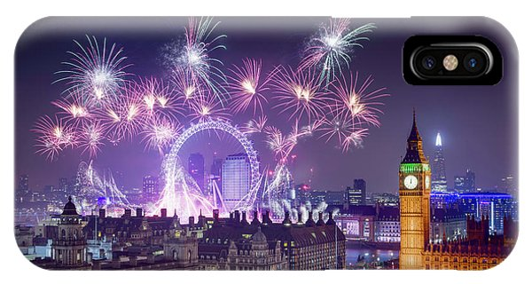 New Year Fireworks London IPhone Case