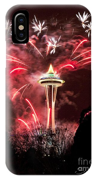New Years At The Space Needle IPhone Case