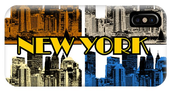New York 4 Color IPhone Case