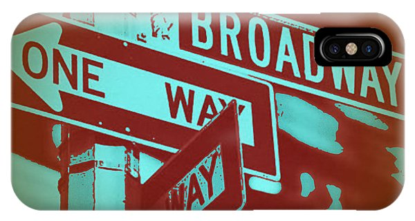 Street Sign iPhone Case - New York Broadway Sign by Naxart Studio