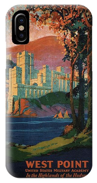 New York Central Lines - West Point - Retro Travel Poster - Vintage Poster IPhone Case