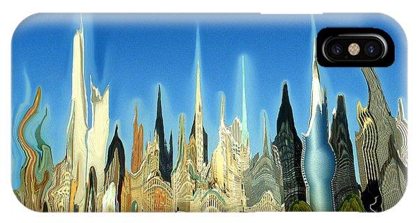 New York City Skyline 2100 - Modern Artwork IPhone Case