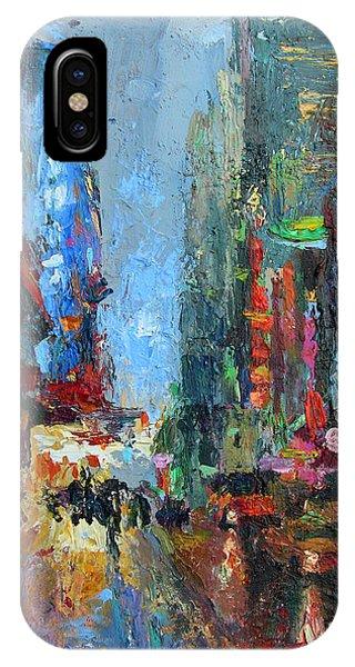 Impressionistic iPhone Case - New York City 42nd Street Painting by Svetlana Novikova