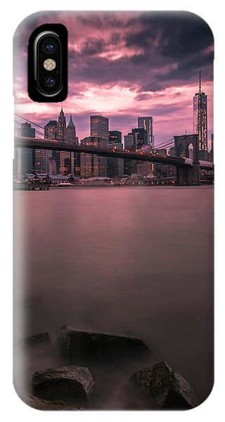 New York City Brooklyn Bridge Sunset IPhone Case