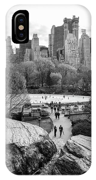 New York City Central Park Ice Skating IPhone Case