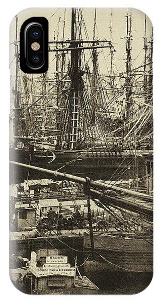 New York City Docks - 1800s IPhone Case