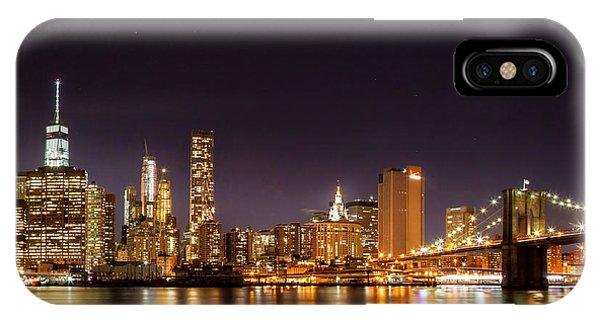 New York City Lights At Night IPhone Case
